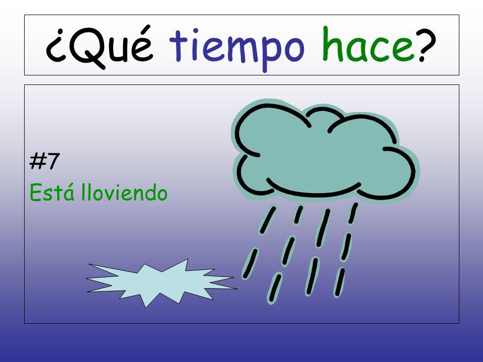 ¿Qué tiempo hace #7 Está lloviendo