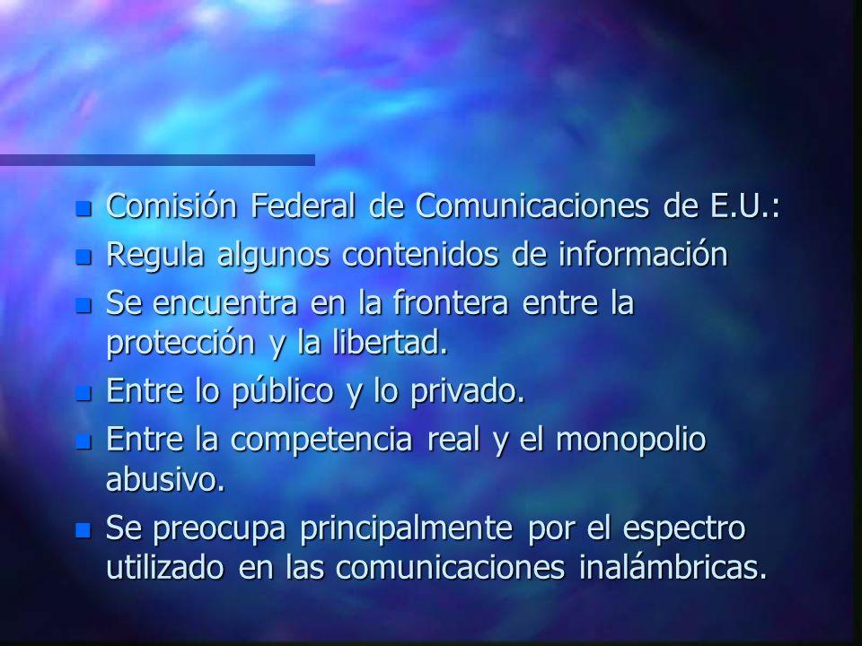 Comisión Federal de Comunicaciones de E.U.: