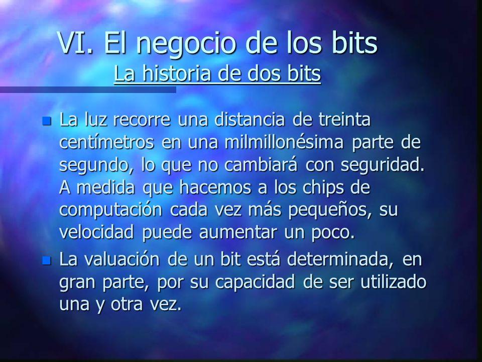 VI. El negocio de los bits La historia de dos bits