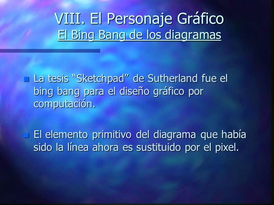 VIII. El Personaje Gráfico El Bing Bang de los diagramas