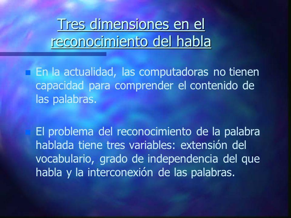 Tres dimensiones en el reconocimiento del habla