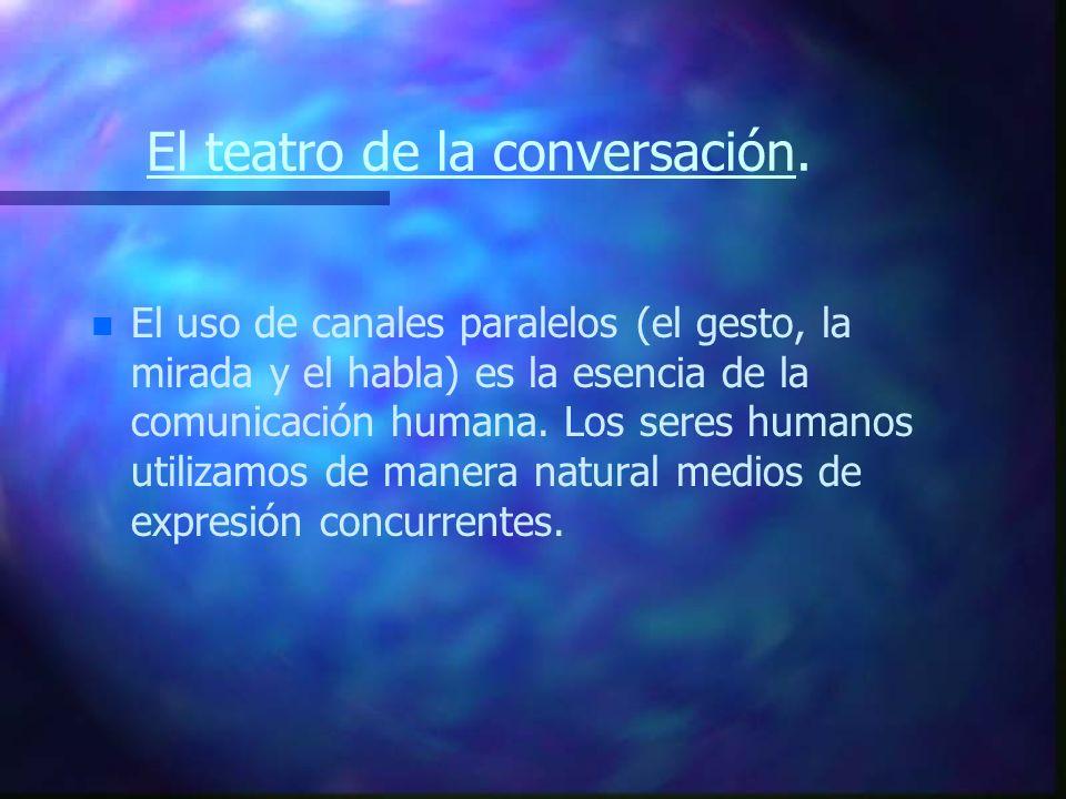 El teatro de la conversación.