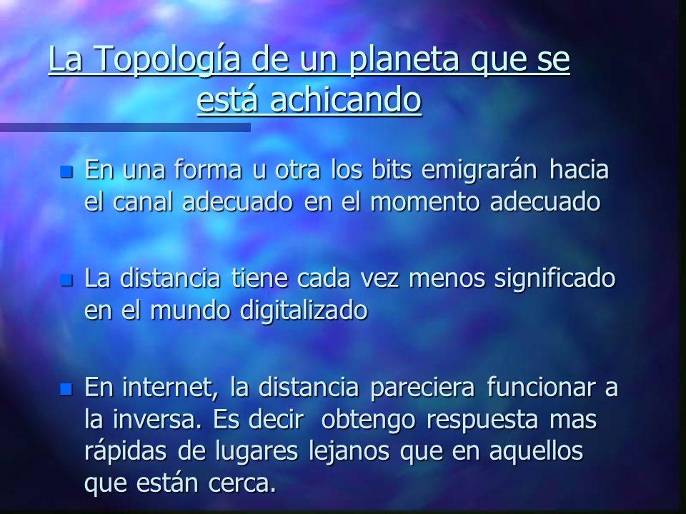 La Topología de un planeta que se está achicando