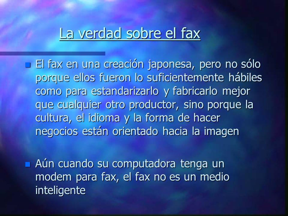 La verdad sobre el fax