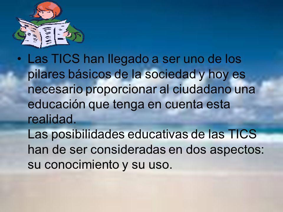 Las TICS han llegado a ser uno de los pilares básicos de la sociedad y hoy es necesario proporcionar al ciudadano una educación que tenga en cuenta esta realidad.