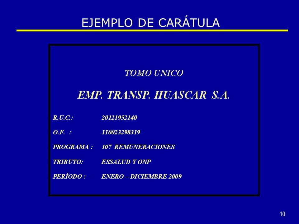 EJEMPLO DE CARÁTULA