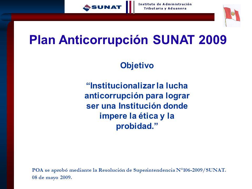 Plan Anticorrupción SUNAT 2009