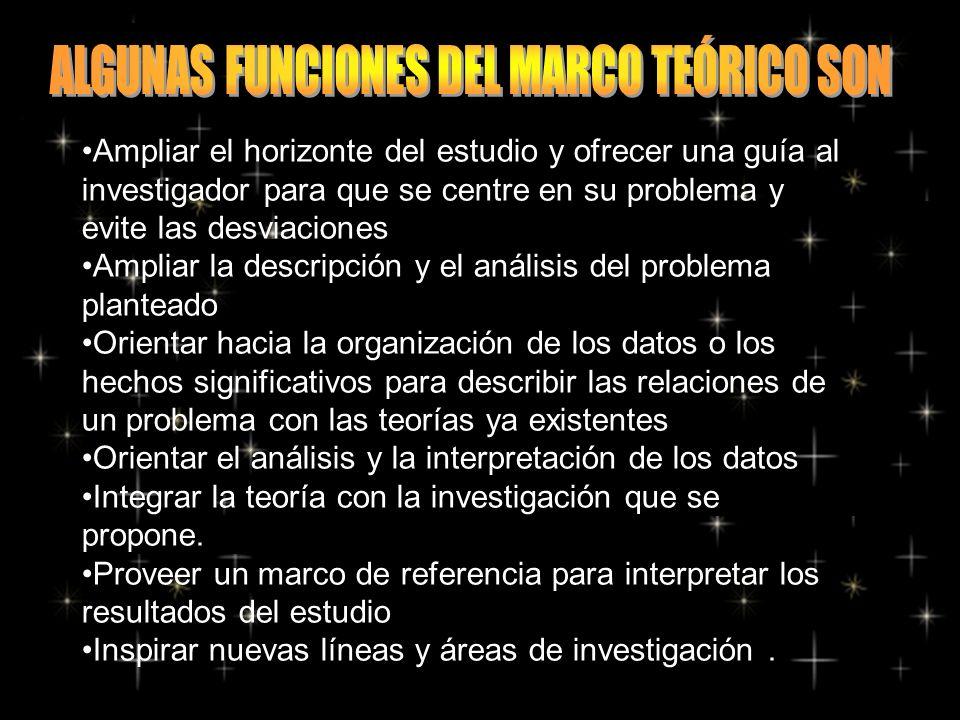 ALGUNAS FUNCIONES DEL MARCO TEÓRICO SON