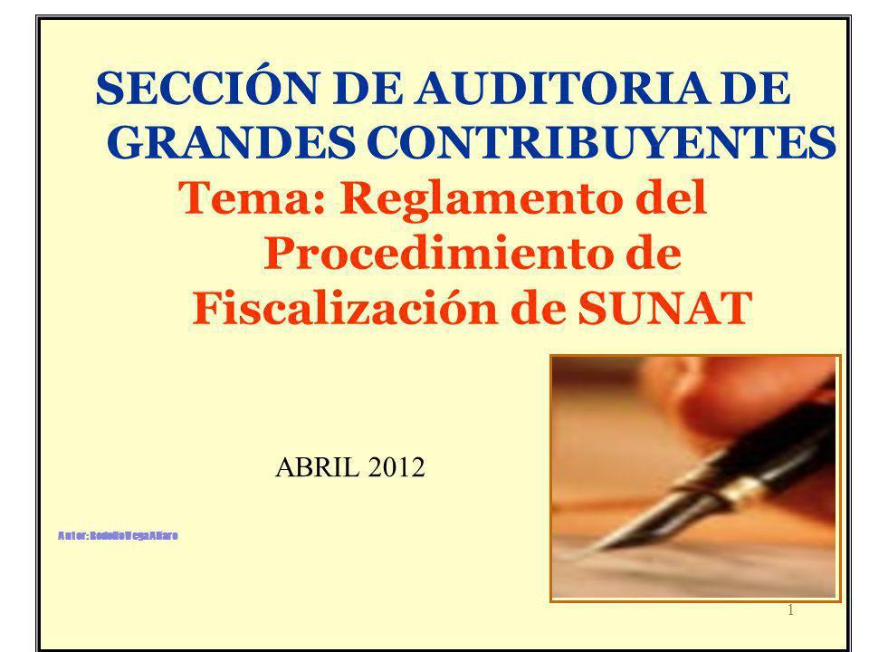 SECCIÓN DE AUDITORIA DE GRANDES CONTRIBUYENTES