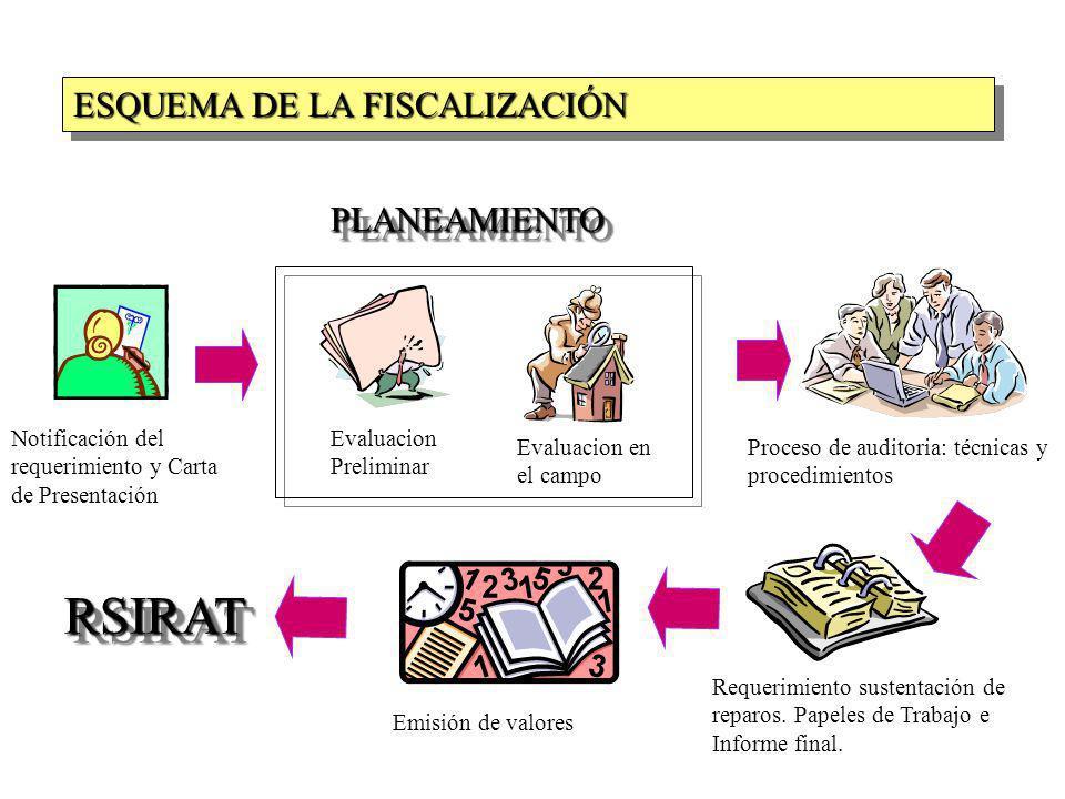RSIRAT ESQUEMA DE LA FISCALIZACIÓN PLANEAMIENTO