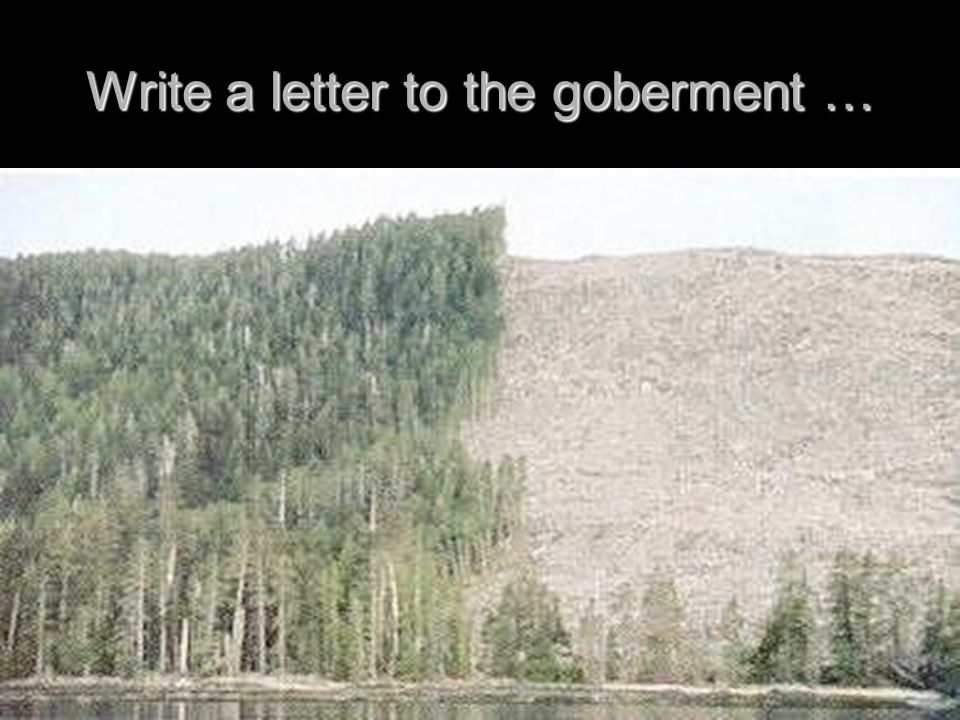 Write a letter to the goberment …