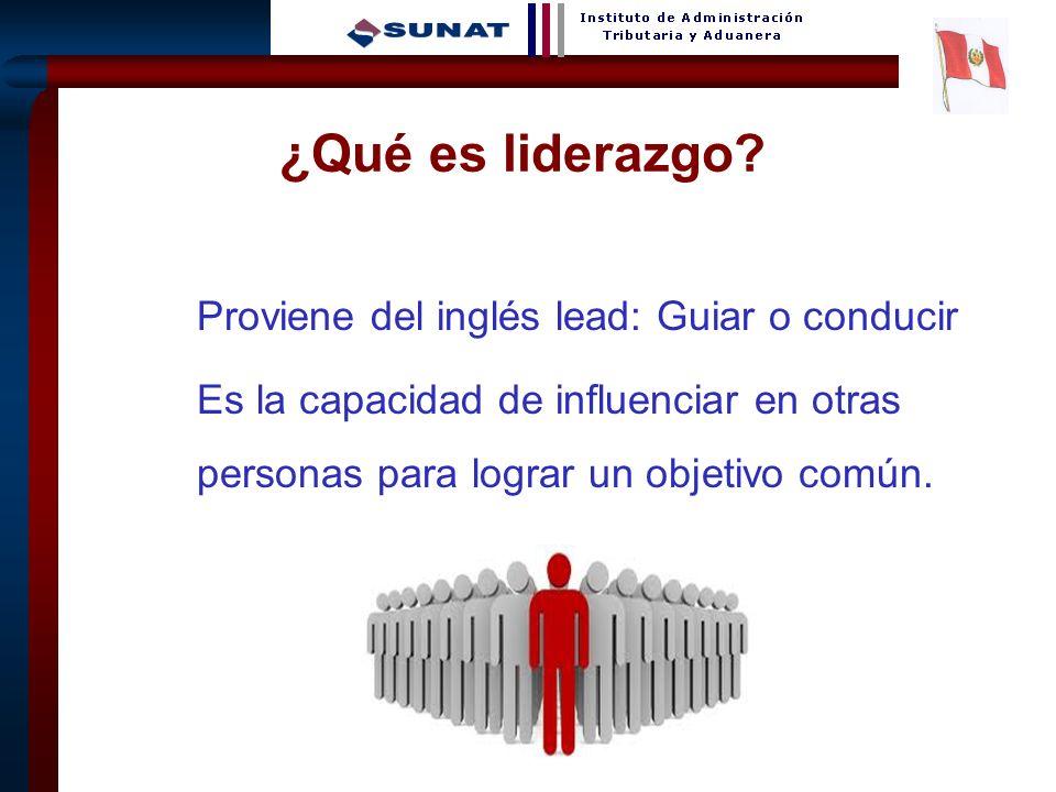 ¿Qué es liderazgo. Proviene del inglés lead: Guiar o conducir.