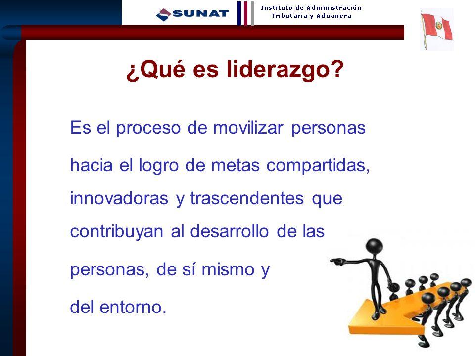 ¿Qué es liderazgo Es el proceso de movilizar personas.