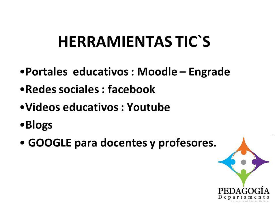 HERRAMIENTAS TIC`S Portales educativos : Moodle – Engrade