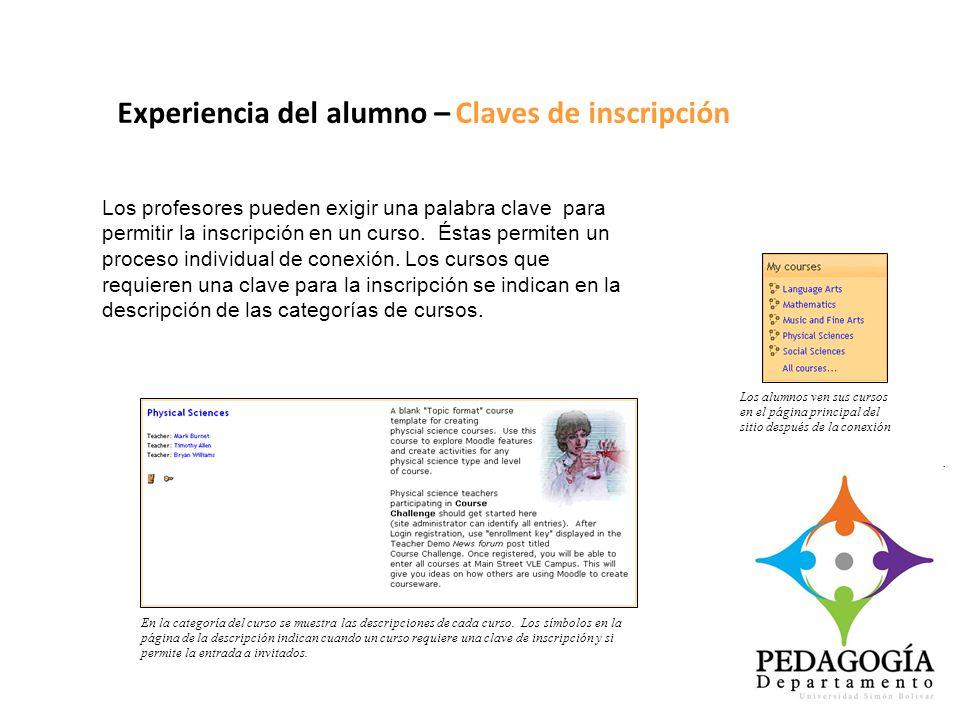 Experiencia del alumno – Claves de inscripción