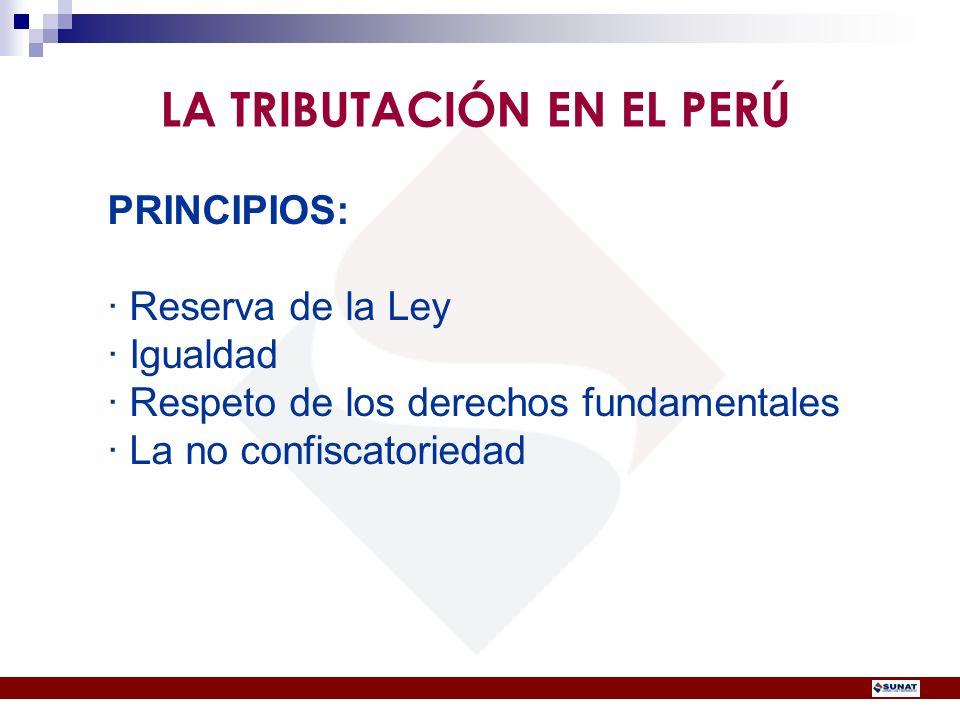 LA TRIBUTACIÓN EN EL PERÚ