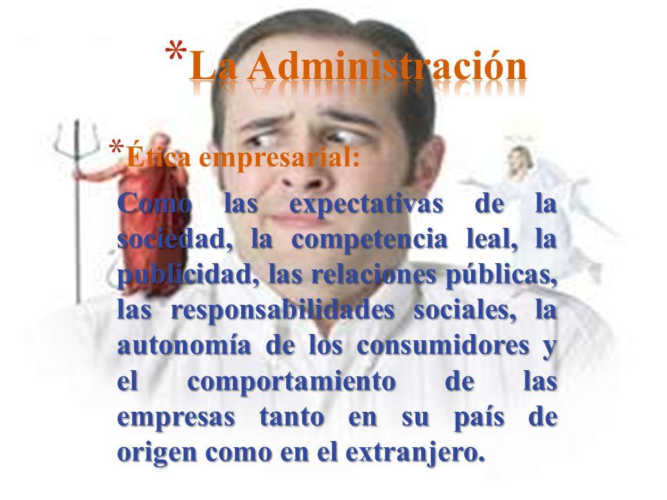 La Administración Ética empresarial: