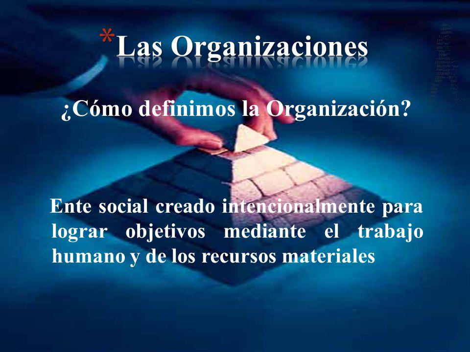 ¿Cómo definimos la Organización