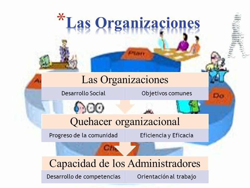Las Organizaciones Capacidad de los Administradores