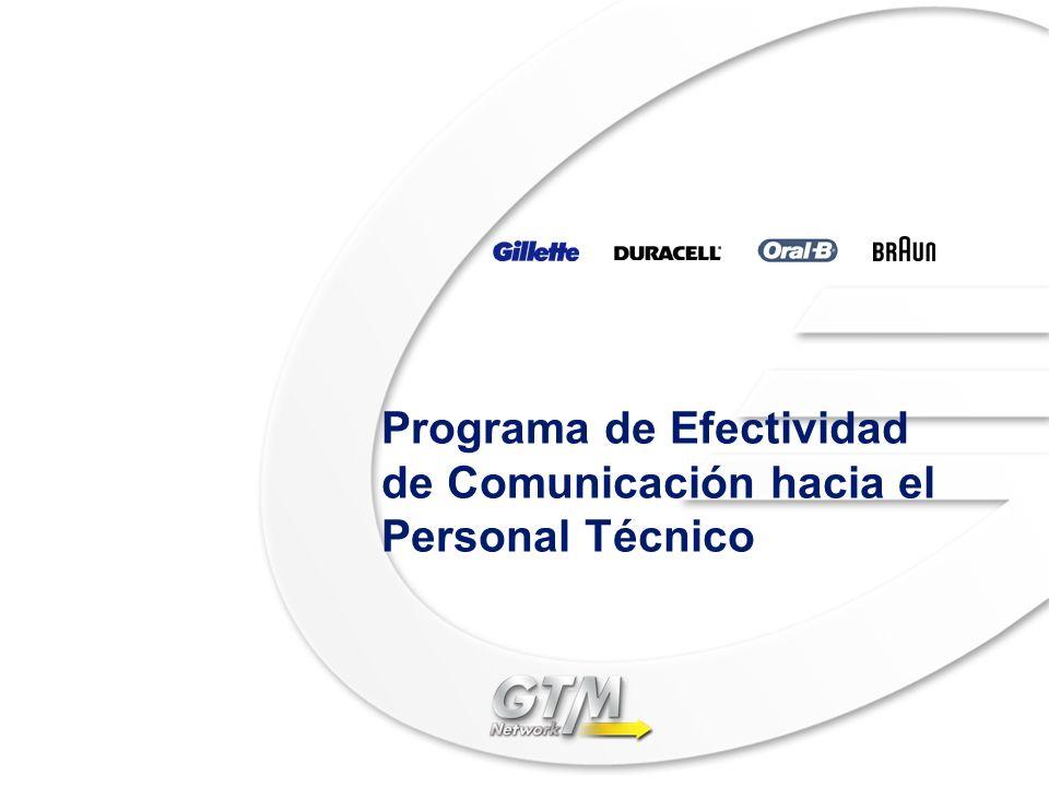Programa de Efectividad de Comunicación hacia el Personal Técnico