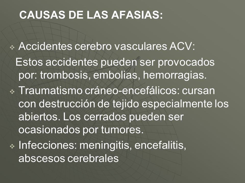 Accidentes cerebro vasculares ACV:
