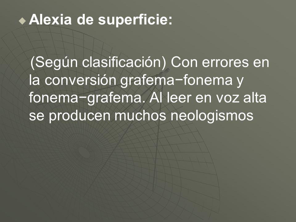 Alexia de superficie: