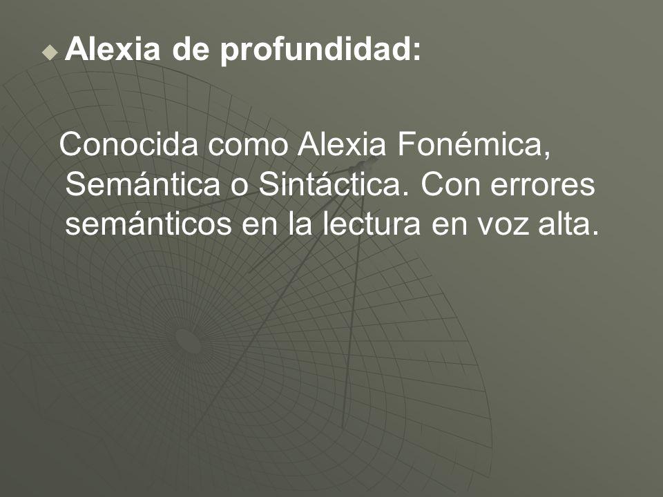 Alexia de profundidad: