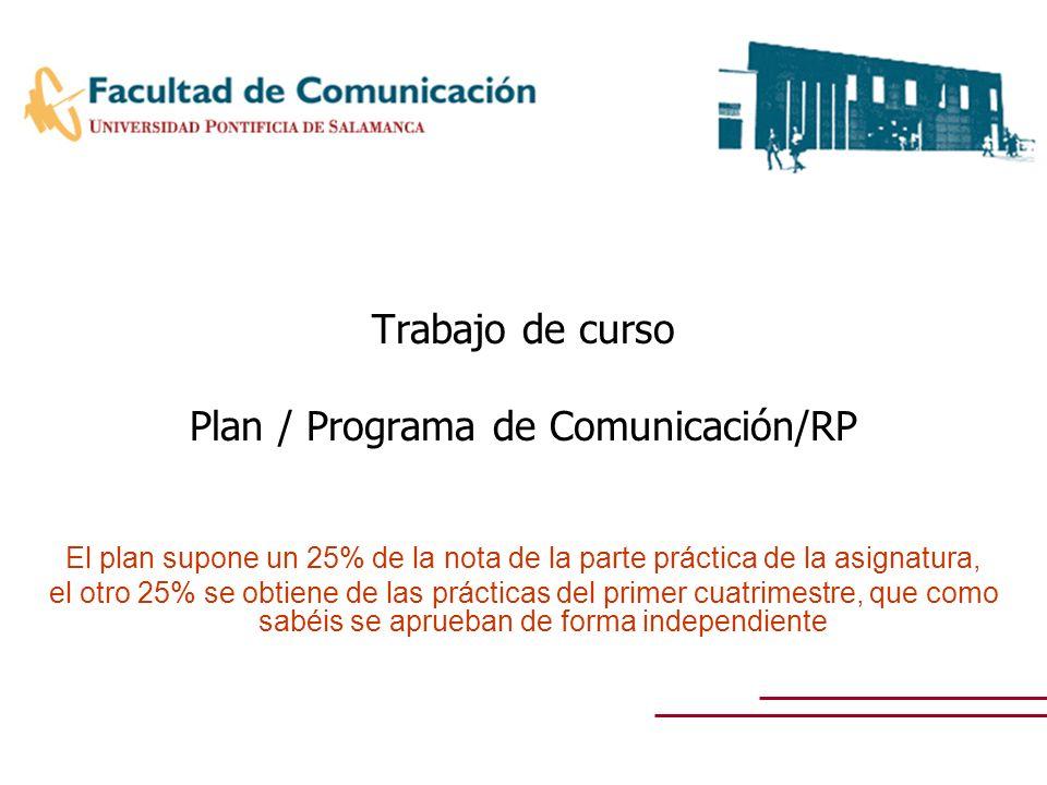 Plan / Programa de Comunicación/RP