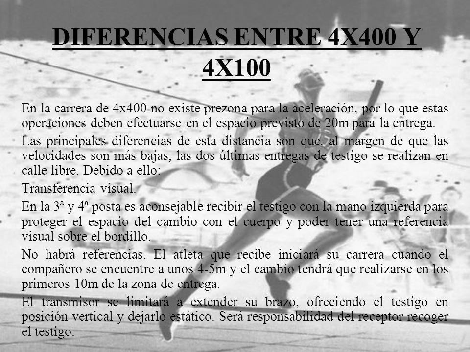 DIFERENCIAS ENTRE 4X400 Y 4X100