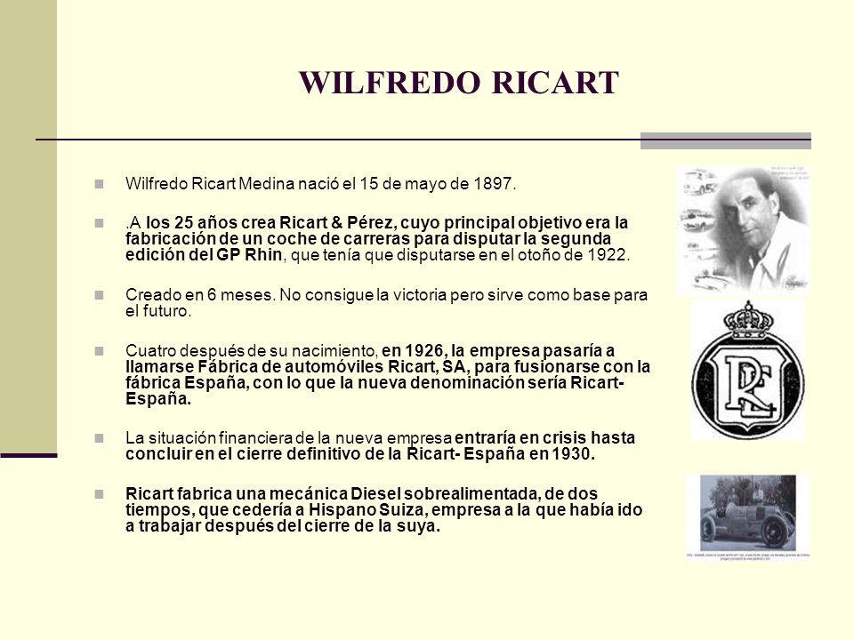 WILFREDO RICART Wilfredo Ricart Medina nació el 15 de mayo de 1897.