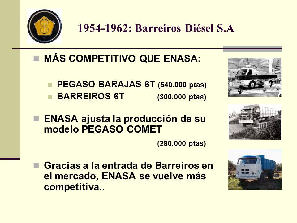 1954-1962: Barreiros Diésel S.A MÁS COMPETITIVO QUE ENASA: