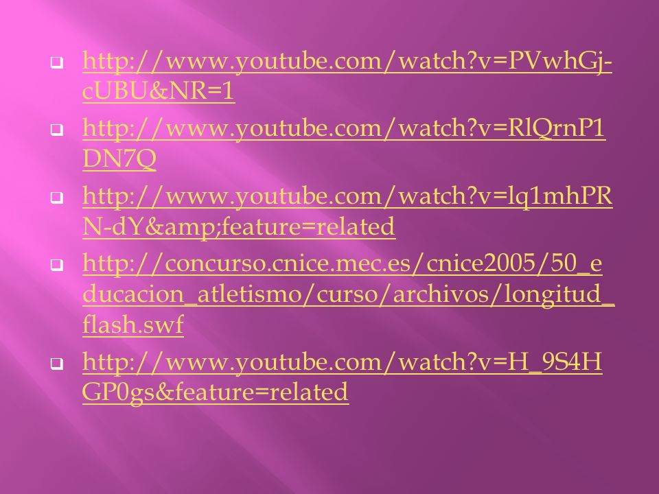 http://www.youtube.com/watch v=PVwhGj-cUBU&NR=1 http://www.youtube.com/watch v=RlQrnP1DN7Q.