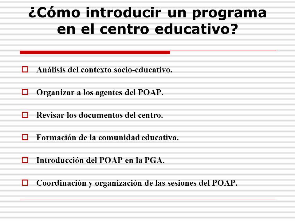 ¿Cómo introducir un programa en el centro educativo