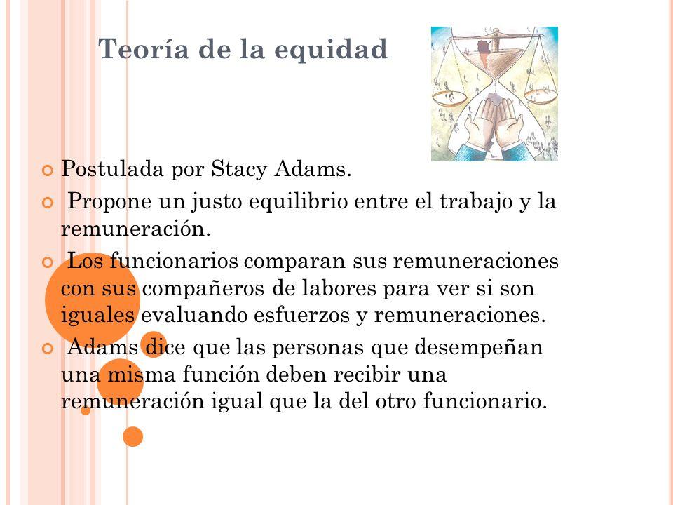 Teoría de la equidad Postulada por Stacy Adams.