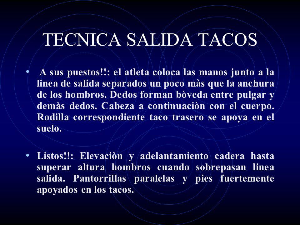 TECNICA SALIDA TACOS