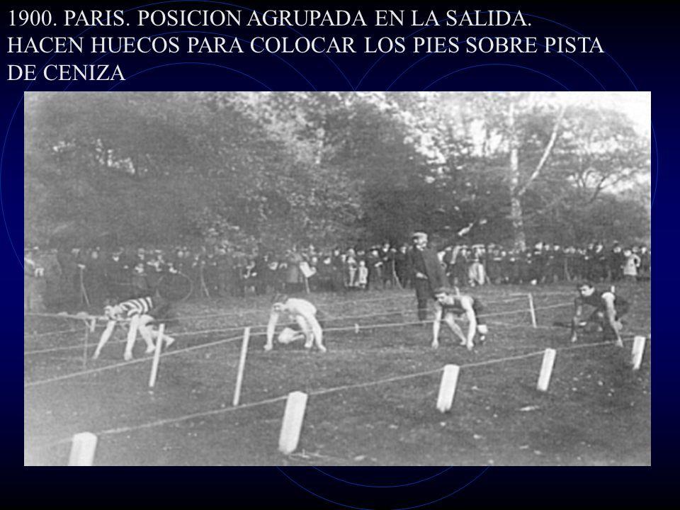 1900. PARIS. POSICION AGRUPADA EN LA SALIDA.