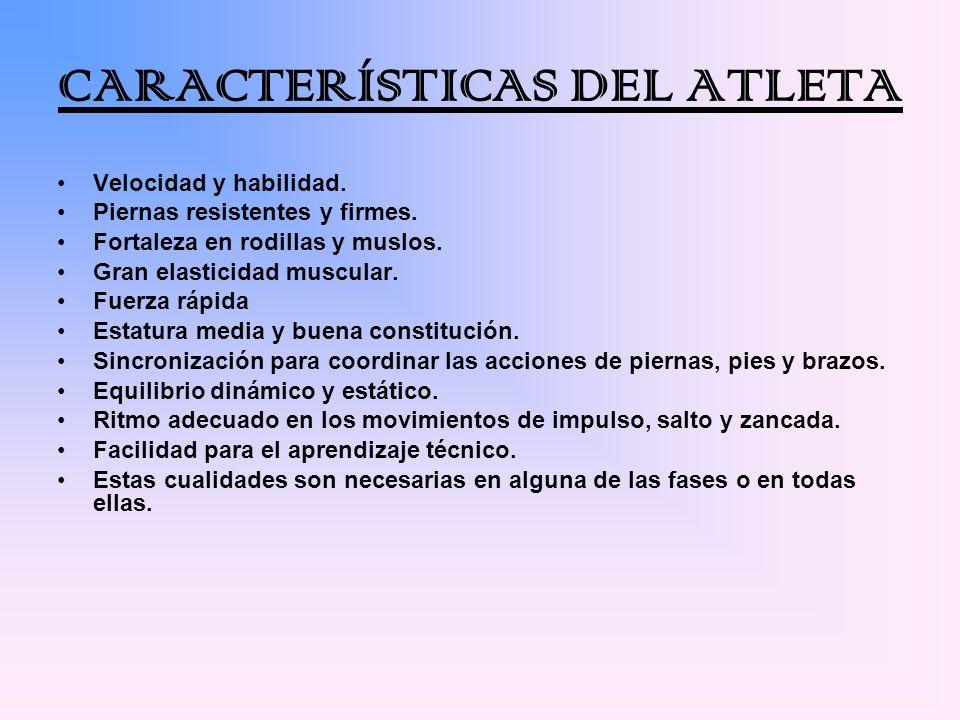 CARACTERÍSTICAS DEL ATLETA