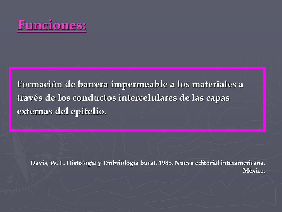 Funciones: Formación de barrera impermeable a los materiales a