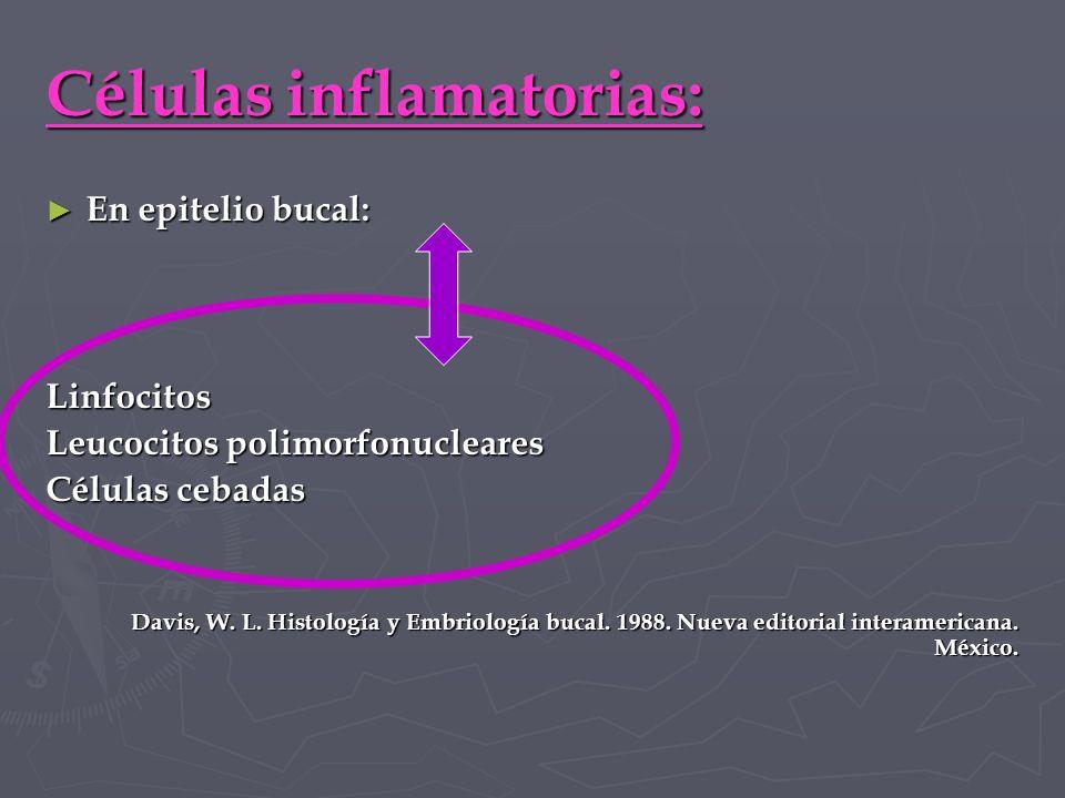 Células inflamatorias: