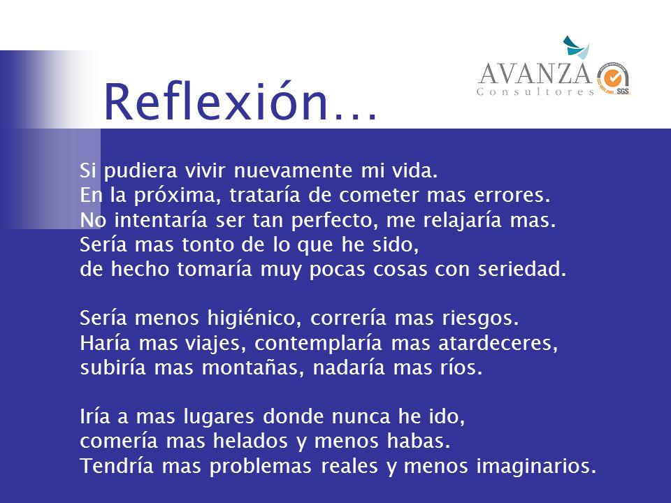 Reflexión… Si pudiera vivir nuevamente mi vida.