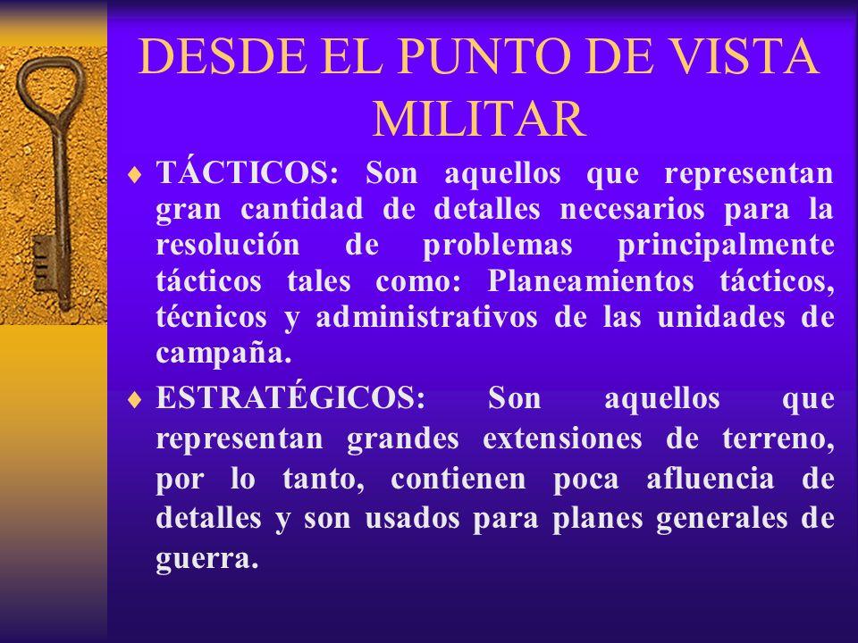 DESDE EL PUNTO DE VISTA MILITAR