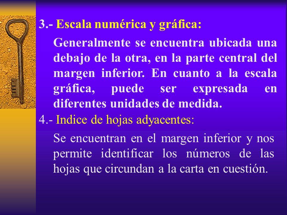3.- Escala numérica y gráfica: