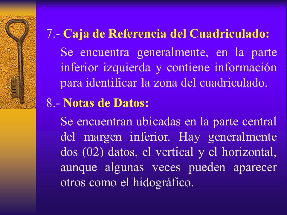 7.- Caja de Referencia del Cuadriculado: