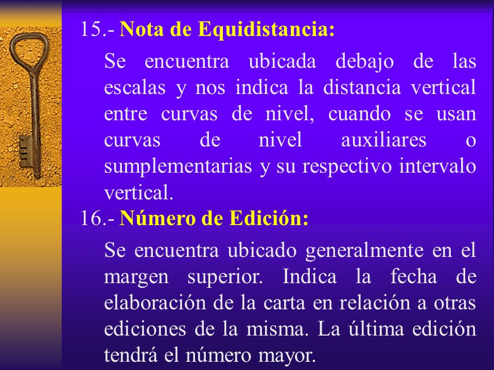 15.- Nota de Equidistancia: