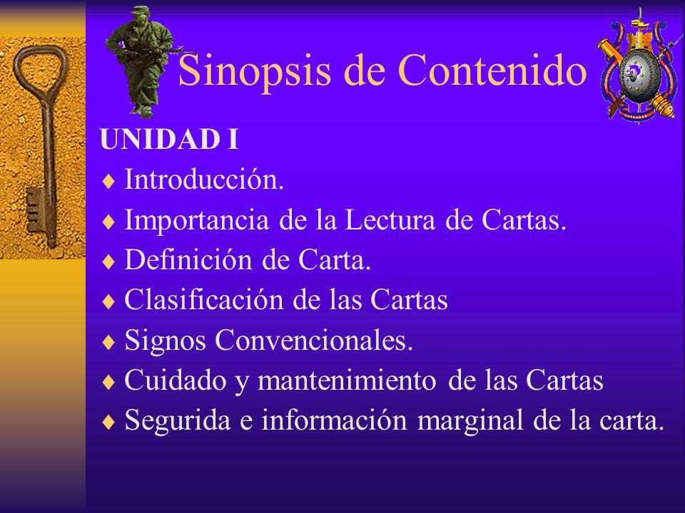 Sinopsis de Contenido UNIDAD I Introducción.