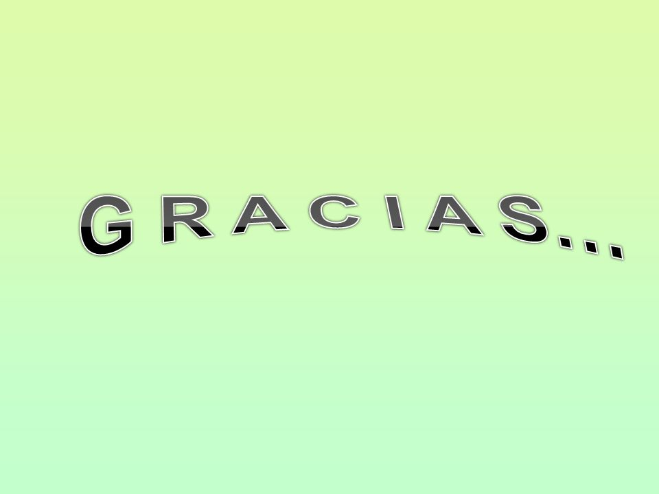 G R A C I A S…