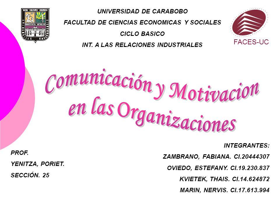 Comunicación y Motivacion en las Organizaciones
