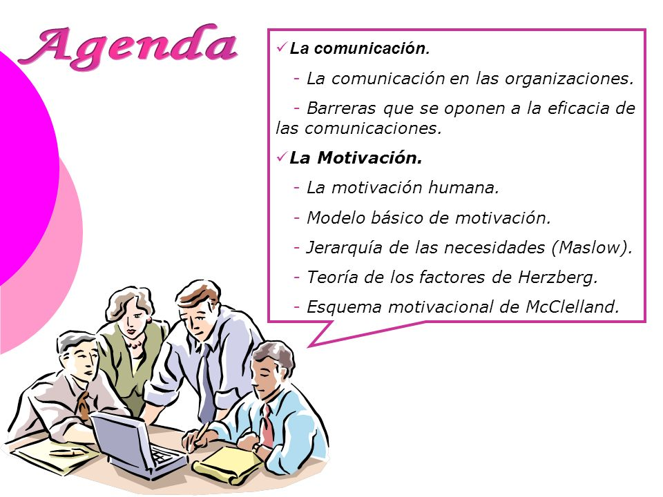 Agenda La comunicación. - La comunicación en las organizaciones.