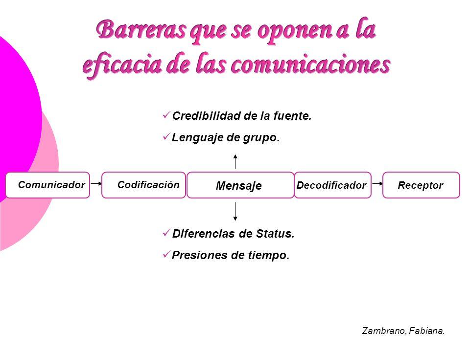 Barreras que se oponen a la eficacia de las comunicaciones