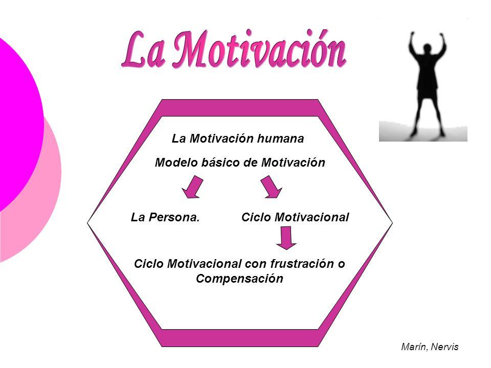 La Motivación La Motivación humana Modelo básico de Motivación